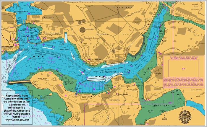 英版海图 BAC NO.5095~5099