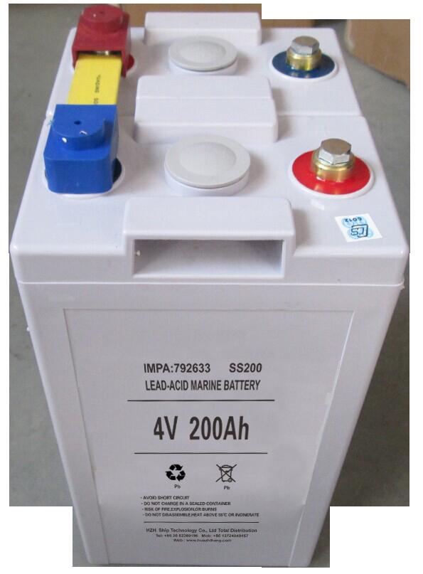 IMPA792633海事船舶用铅酸蓄电池 4V200AH 船用电瓶可替代SS200