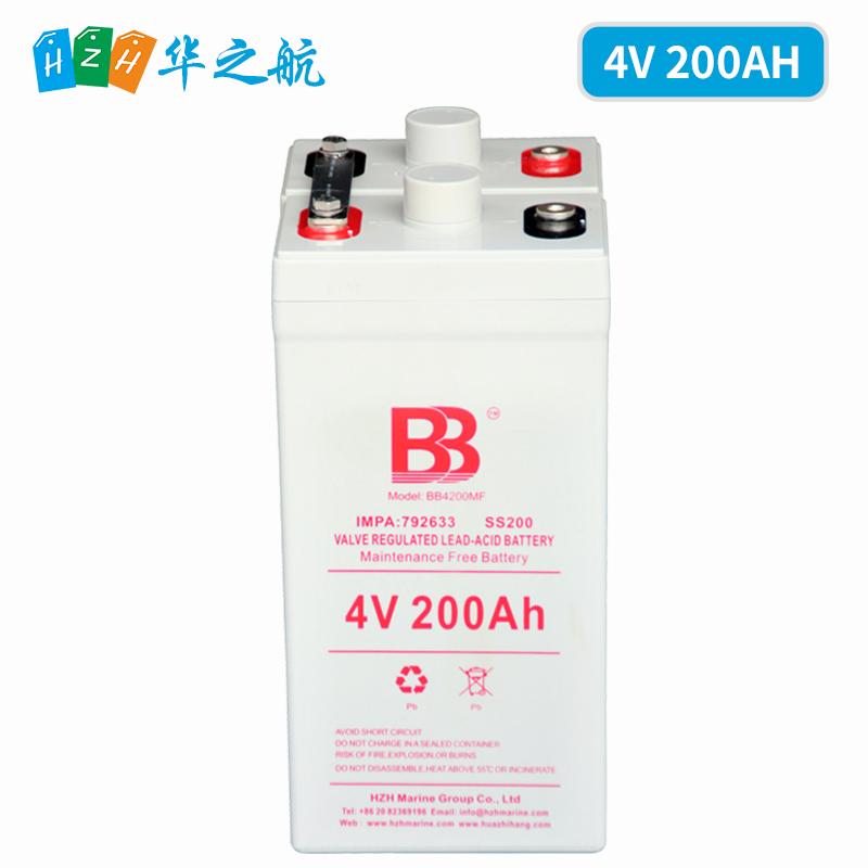 4V200AH BB船用AGM铅酸免维护蓄电池SS200